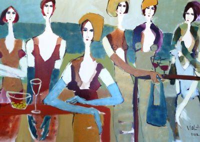 2012 - Rotwein und Oliven I - 100 x 160 cm