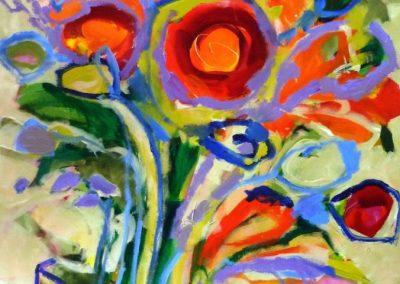 2013 - Blumenvase III - 140 x 70 cm