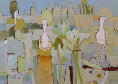 2013 - Die weiße Amaryllis - 100 x 150 cm