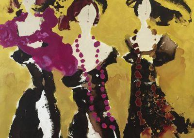 2014 - Frauen im Goldrausch V - 100 x 100 cm