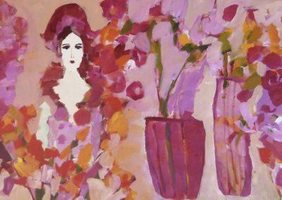 2015 - Die Blumenhändlerin - 90 x 200 cm