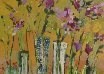 2015 - Gelbe Blumen - 200 x 200 cm