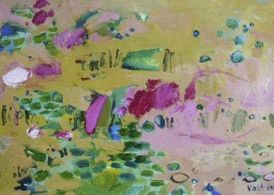 2015 - Landschaft mit Seerosenteich - 100 x 150 cm