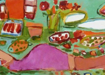 2015 - Liegende auf Grün - 70 x 200 cm