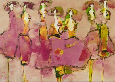 2016 7 Frauen in Sommerfarben - 80 x 120 cm