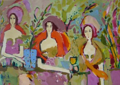 2017 - Drei Damen an den Ramblas - 90 x 130 cm