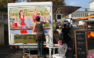 Kunst auf dem Pforzheimer Wochenmarkt