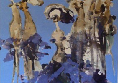 Atelier an der Enz - Blau - 200 x 200 cm