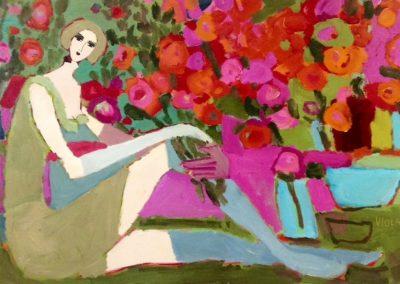 Atelier an der Enz - Das Mädchen mit den Blumen - 100 x 160 cm