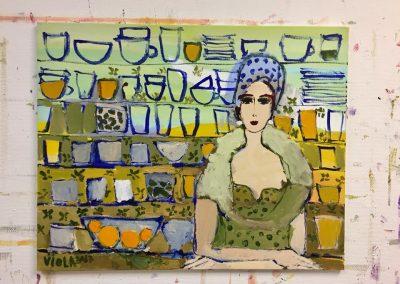 Atelier an der Enz - Die Verkäuferin - 80 x 100 cm