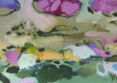 Atelier an der Enz - Landschaft aus der Vogelperspektive - 80 x 160 cm