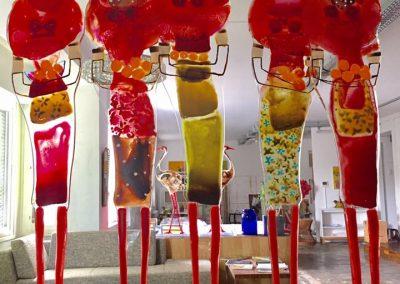 Atelier an der Enz - Orangenverkäuferinnen - je 180 cm hoch