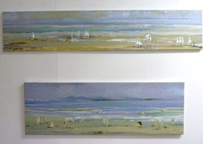 Atelier an der Enz - Strandwetter - oben 30 x 150 cm | unten 40 x 120 cm