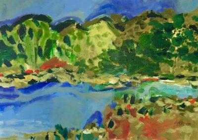 2019 - Flusslandschaft: entlang der Nagold - 150 x 100 cm