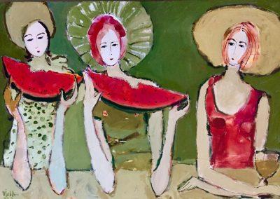 2019 - Die Wassermelone - 130 x 90 cm