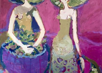 2019 Mädchen mit Kaktusfeigen - 120 x 100 cm