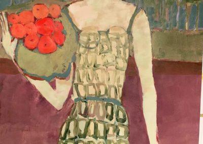 2019 - Frau mit Orangen - 100 x 150 cm