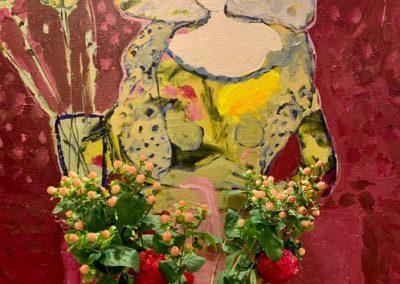 2019 - Frau mit Vase - 110 x 100 cm