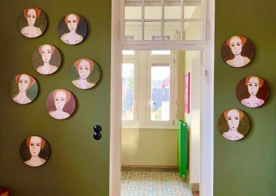 2019 - Portraits auf Holz - rund 30 cm