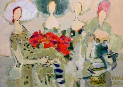 2020 - Der rote Blumenstrauss - 120 x 160 cm