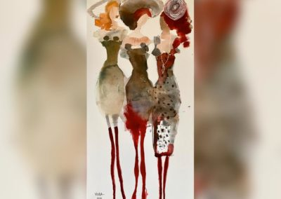 2020 - Drei Freundinnen - 90 x 180 cm