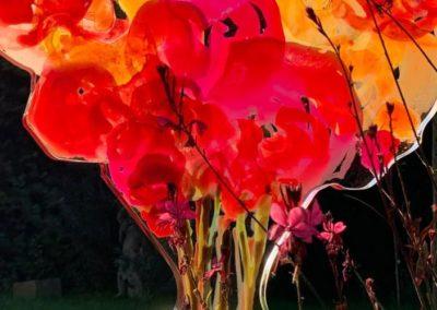 2020 - Blumenvasen - Acrylstele - 100 cm