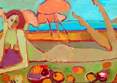 2021 - Am Strand - Acryl auf Leinwand - 170 x 100 cm