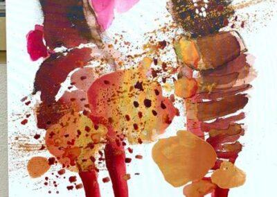 2021 - Die Ornellas - Acryl auf Leinwand - 190 x 80 cm