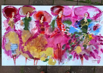 2021 - Farbrausch - Acryl auf Leinwand - 170 x 100 cm