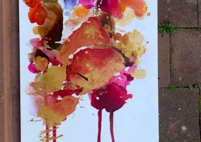 2021 - Zwei Diven - Acryl auf Leinwand - 190 x 100 cm